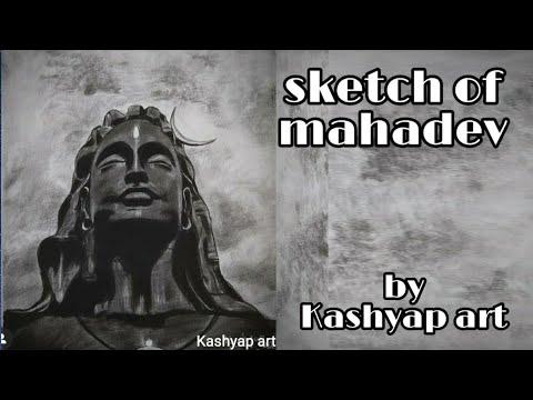 mahadev sketch by Kashyap art #mahadev #how to make Mahadev sketch #drawing