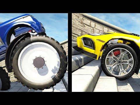 Beamng drive - Large vs Little Wheels #2
