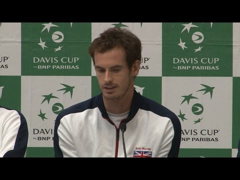 Press Conference With Team GB Ahead Of The Davis Cup Semi Final