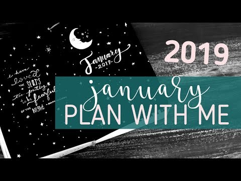 PLAN WITH ME! 💫JANUARY 2019 Bullet Journal Set Up