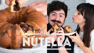 PÃO BOLO DE NUTELLA com CARAMELO ou MONKEY BREAD FAIL   BIGODE SOZINHO NA COZINHA   DANI NOCE