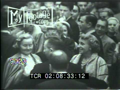 Stock Footage - 1953 Movie Premiere: THUNDER BAY with Jimmy Stewart