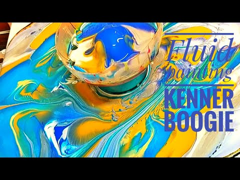 Kenner Boogie fluid painting bottle pour to the music of Jon Batiste