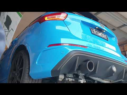 Focus Rs Mk3 Custom Exhaust With Xforce Carbon Fiber Tips Youtube