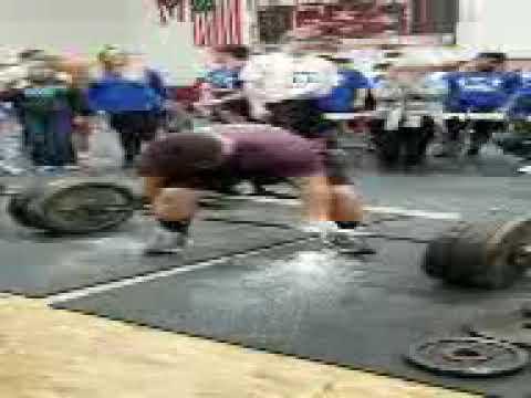 500 lb deadlift, Benjamin Rivera, south range high school , Canfield ohio