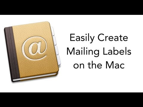 How to make address labels on a mac pro