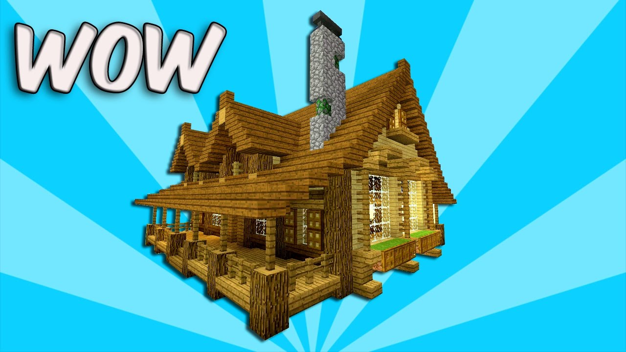 Minecraft How To Build Wooden House Tutorial Best