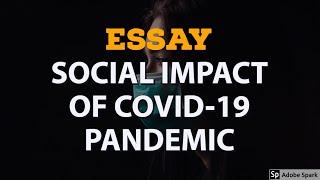 Essay on Social Impact of COVID-19 (CORONAVIRUS) Pandemic | Essay Writing in English