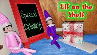 Elf on the Shelf Brings Secret Mystery Gift! NO BUDDY!!! Who Sent It???