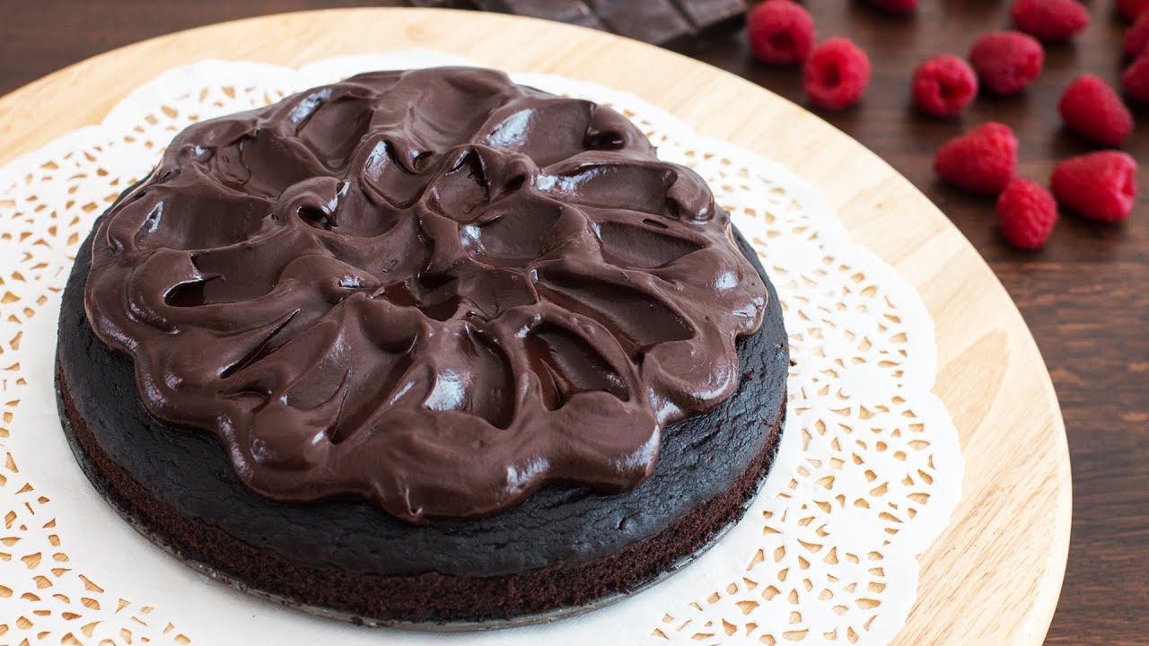 Cake Recipes In Otg Youtube: Crazy Cake With Chocolate Ganache Recipe