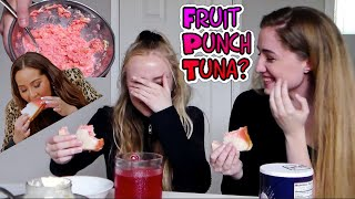 Trying Adrienne Bailon's Weird Food Combination (Tuna and Fruit Punch) #TunaPunchChallenge