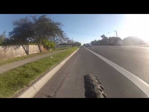 Cycling from Library  to Hwy 107 on 29th Street, McAllen Texas