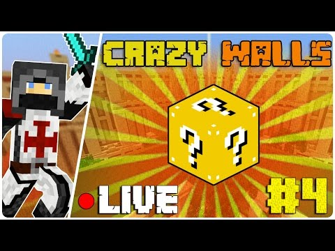 Lucky Crazy Walls LIVE #4! - Hypixel Minigame w/DoggyAndi, ZsDav - (Andi nézete)