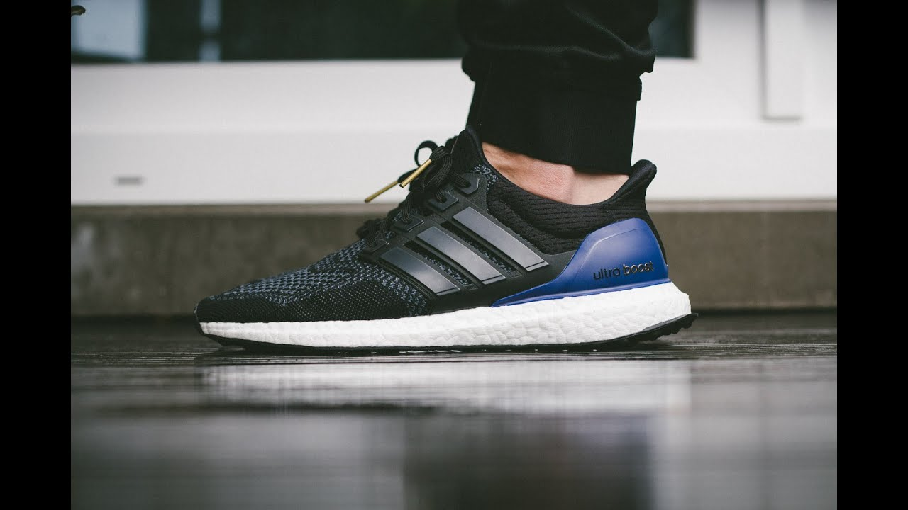 adidas ultra boost black red blue