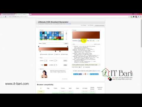 61  Gradient  Online Generator  IT Bari Com   Web Design Bangla Video Tutorial