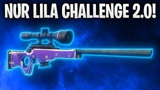 NUR LILA CHALLENGE 2.0! 💜 | Fortnite: Battle Royale