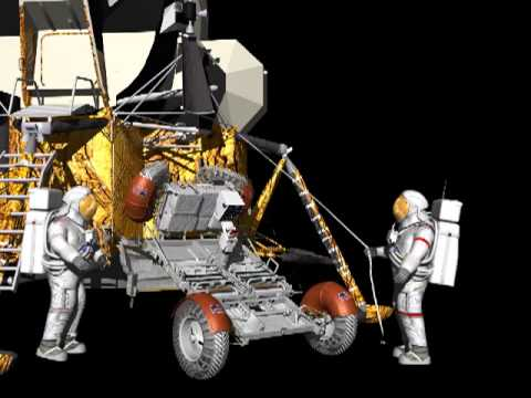 Lunar Rover Vehicle Deployment Animation YouTube