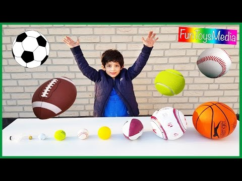 Thumbnail: Learn Balls Sports for Children and Toddlers | Playing Outdoor Sports Kids Toys Fun Activities