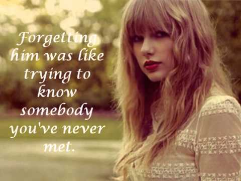 Taylor Swift - Red Lyrics)