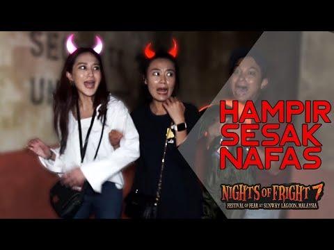 Kamalia Sesak Nafas Di NIGHTS OF FRIGHT 7 (2019) : Sunway Lagoon