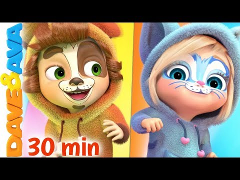 🤸♂️ Hop a Little, Jump a Little + More Nursery Rhymes & Kids Songs   Dave and Ava 🤸♂️