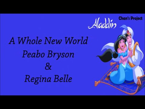 Peabo Bryson & Regina Belle   A Whole New World (LYRIC)