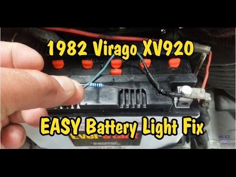 1982 Yamaha Virago XV920 Battery Warning Light Fix - Easy!