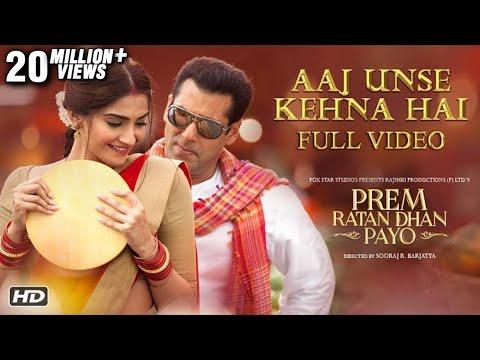 Aaj unse kehna hai full video song prem ratan dhan payo songs female version tseries - 5 4