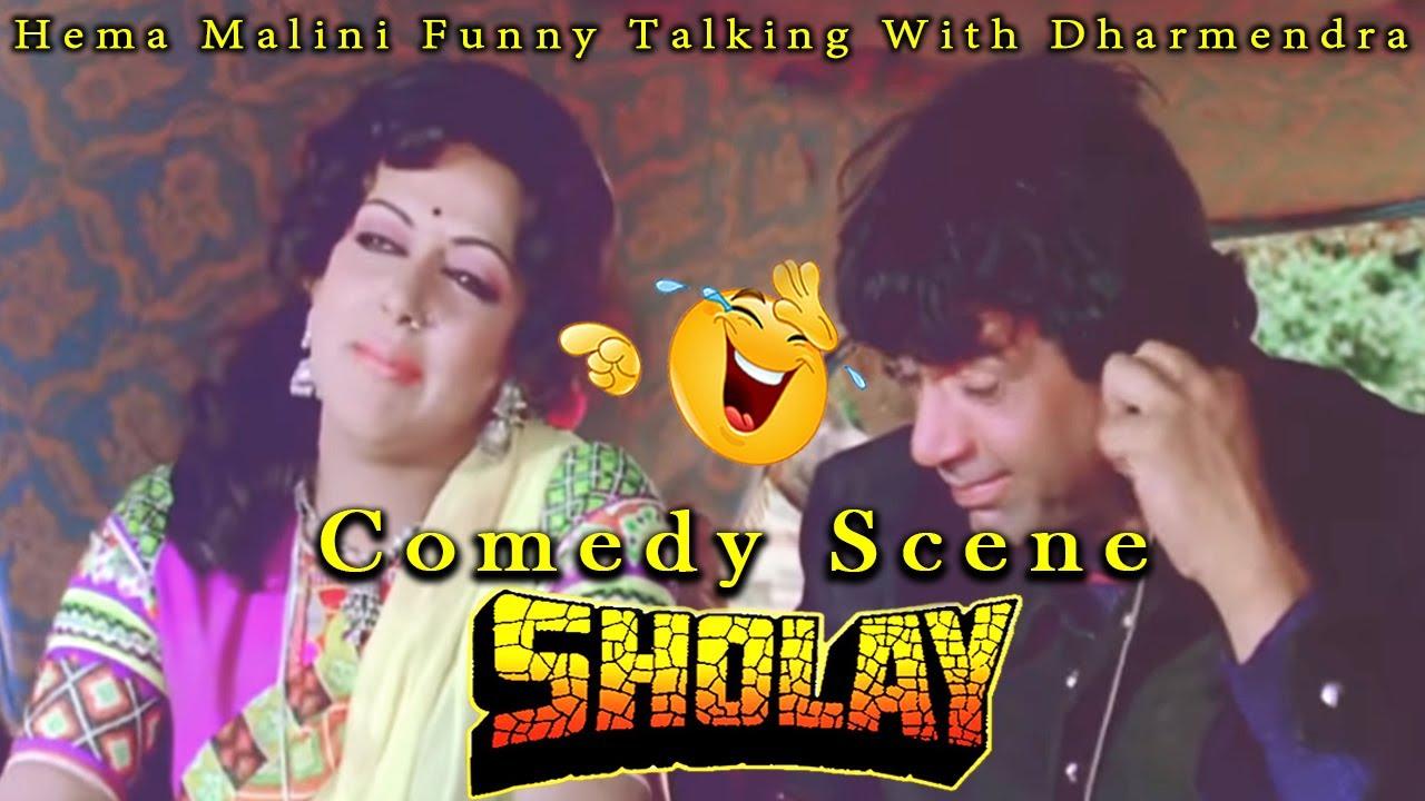 Download Hema Malini Funny Talking With Dharmendra | Comedy Scene | Sholay Hindi Movie
