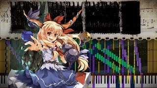 Black Score: Touhou 7.5 - Onigashima in the Fairyland ~ Missing Power | 106,000 Notes | Black MIDI