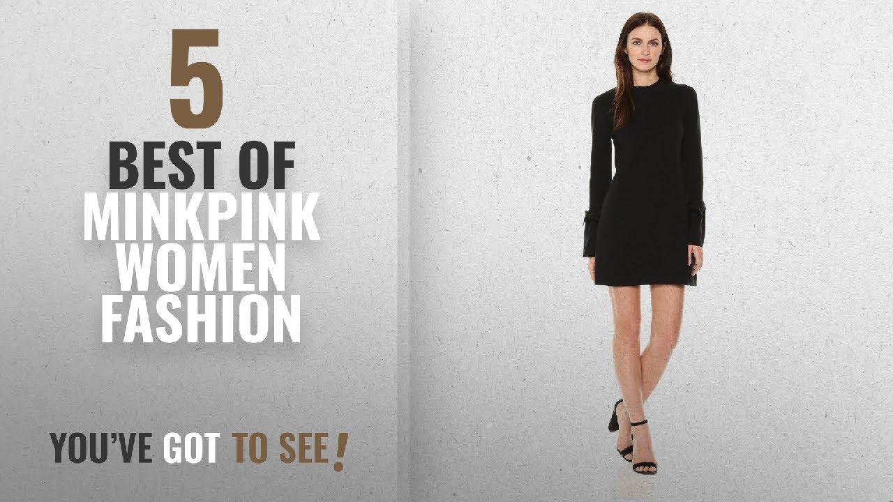 59a7838c980 Minkpink Women Fashion [2018 Best Sellers]: MINKPINK Women's Evie Bell Tie  Sleeve Knit Dress, Black,