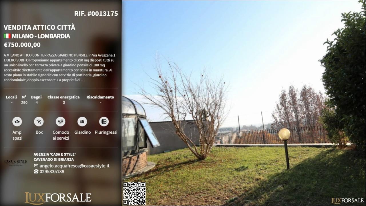 Vendita Attico Città Milano Lombardia 0013175
