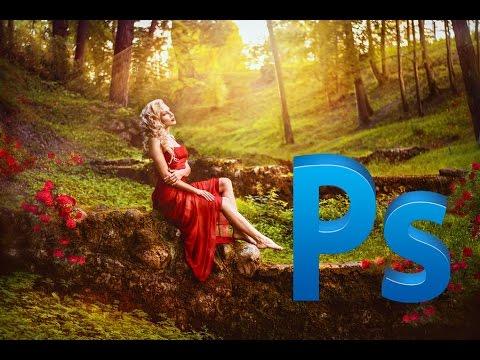 Photoshop - художественная обработка фото с заменой фона