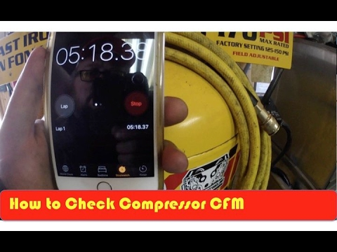 How to Check Compressor CFM