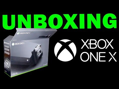 XBOX ONE X UNBOXING (XBOX CODE GIVEAWAYS)
