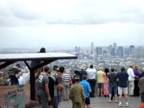 RAAF F1-11 final fly over Brisbane Australia