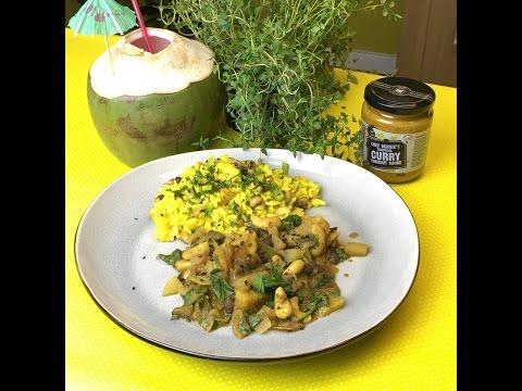 Green Papaya & Cashew Curry Coconut with Rice 'n Peas