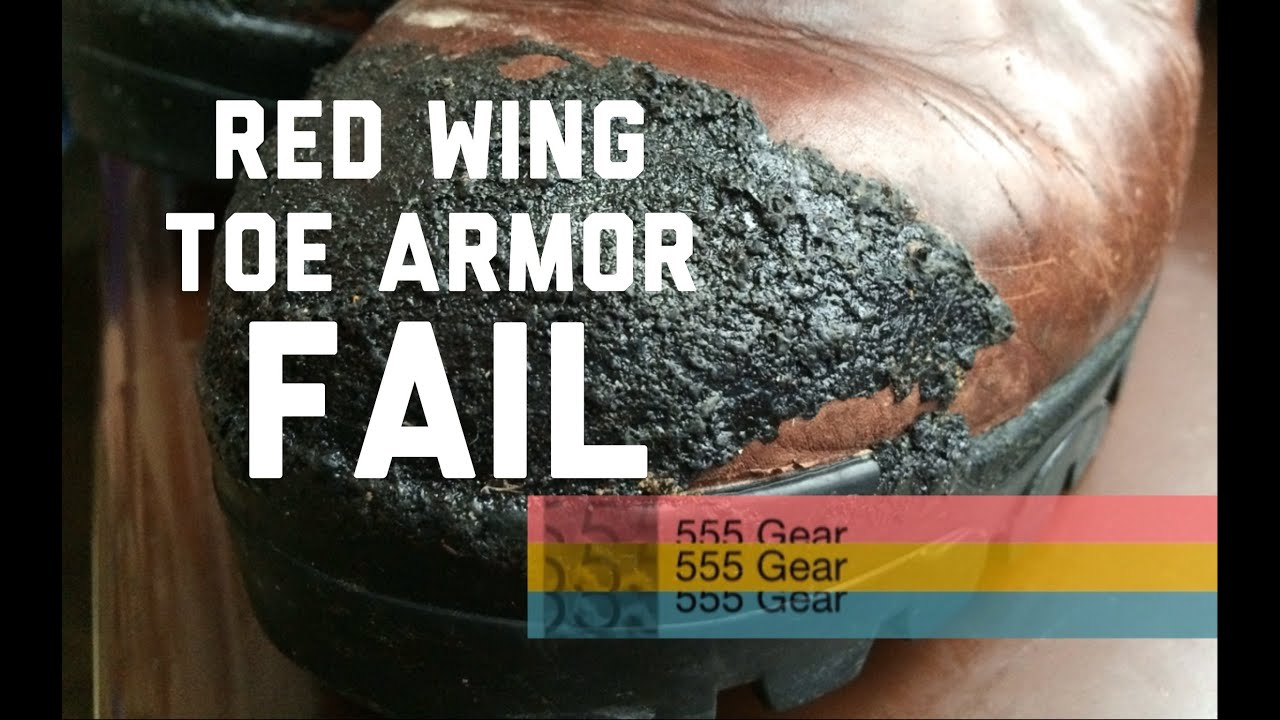 Review Red Wing Toe Armor Boot Protection Acrylic