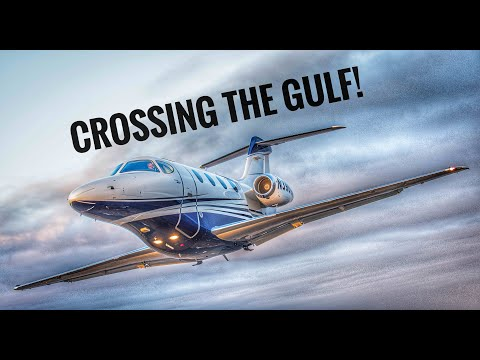 Crossing the Gulf Of Mexico in a Private Jet-Nothing but blue...