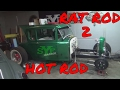 1931 Ford Model A Rat to Hot Rod.  Radiator mount on z'd Frame
