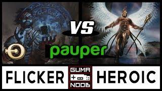 Pauper - DIMIR FLICKER vs MONO WHITE HEROIC