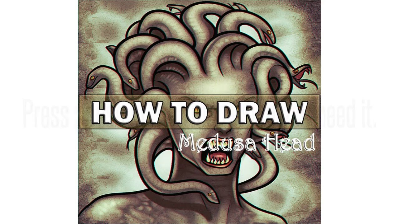 How To Draw Medusa Head Step By Step Youtube