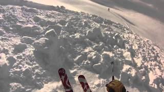 Avalanche scare - Skeena Range, BC