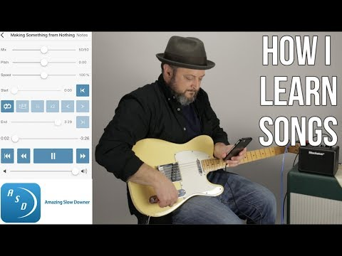 """How I Learn Songs By Ear With """"Amazing Slow Downer"""" App - Guitar Gear"""