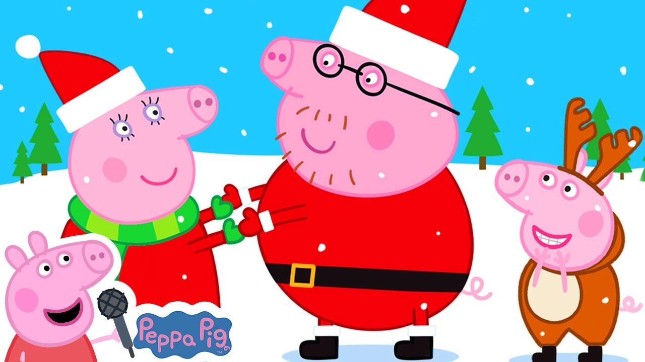 Peppa Pig Christmas Songs | Jingle Bells + More Christmas Songs | Peppa Pig Songs | Nursery Rhymes