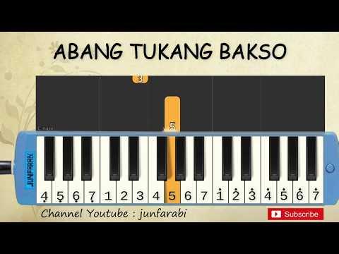 Not Pianika Abang Tukang Bakso - Tutorial Belajar Pianika Lagu Anak - Not Angka Abang Tukang Bakso