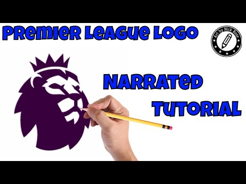 |Draw Football Logos|How to draw Premier League logo|Learn how to draw the Premier league logo|