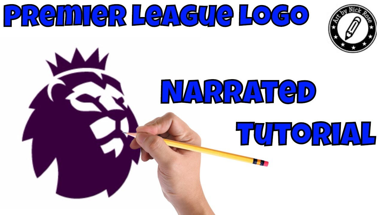 Draw Football Logos How To Draw Premier League Logo Learn How To Draw The Premier League Logo Youtube