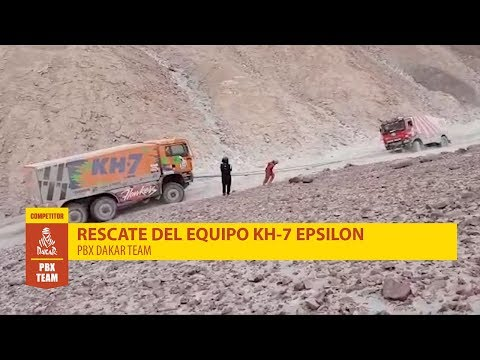 Rally Dakar 2019 - KH-7 Epsilon rescata al PBX Dakar Team - Palibex