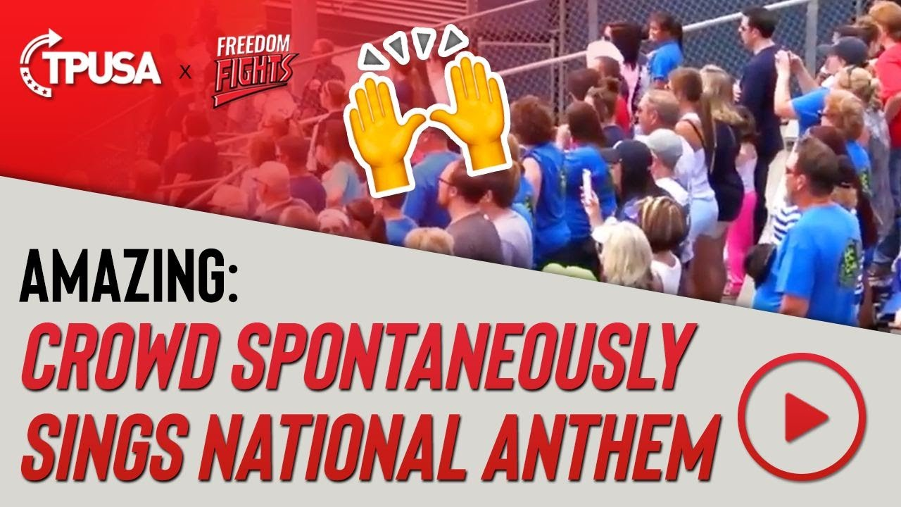 Amazing: Crowd Spontaneously Sings National Anthem